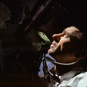 Walter Cunningham - Cunningham during the Apollo 7 mission