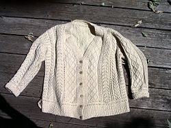 hand knitted aran jackets choice   of colors