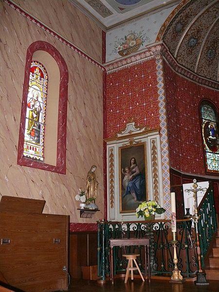 L'église Saint-Laurent d'Arbonne (Pyrénées-Atlantiques, Aquitaine, France).