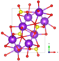 Arcanite crystal structure (McGinnety 1972) along c axis.png