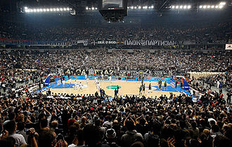 KK Partizan - Kombank Arena, home arena for Euroleague games.