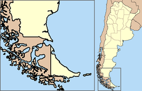 Localización de esta bahía en la Patagonia