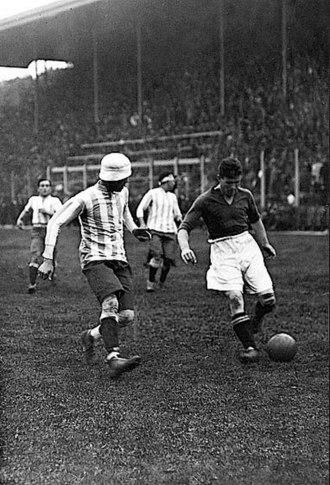 Motherwell F.C. - Motherwell playing Argentina national team at Boca Juniors stadium, 1928