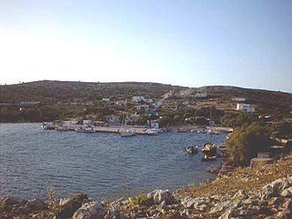 Arkoi - The main town of Arkoi and its port