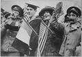 Armistice celebration. Yanks and Tommies., 11-1918 - NARA - 530789.tif