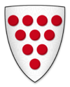 Arms displayed by Walter de Gray, Bishop of Worcester, at the signing of Magna Charta.png