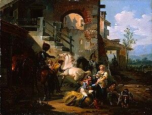 Giovanni Migliara - Image: Artgate Fondazione Cariplo Migliara Giovanni, Veduta con cavalli