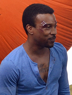 Ashley Walters - Walters filming Truckers in 2013