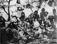 Ashluslay; scen från ett gästabud. Se även 72-52 (fotografititel, katalogkort). Gran Chaco. Bolivia - SMVK - 004634.tif