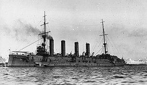 Russian cruiser Bayan (1900) - Aso at Yokosuka, 1924