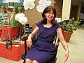 Asst Prof Donna Ramos and her retirement chair (3831203210).jpg