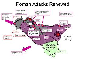 Roman attacks 253–251 BC.