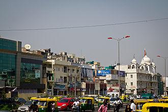 Sri Aurobindo Marg - Aurobindo Road near Hauz Khas and Green Park, New Delhi.