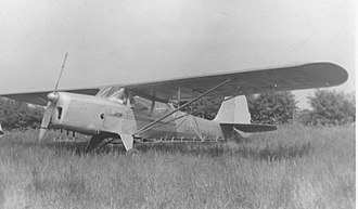 Auster J family - J/1B Aiglet fitted with under-wing crop-spraying bars at Rearsby airfield, Leicestershire, in June 1951.