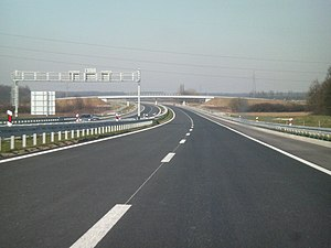 European route E73 - E73 as A5 motorway in Croatia