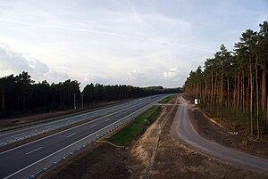 A1 autostrada (Poland) - A1 near Grudziądz, northern (Gdańsk - Grudziądz) section.