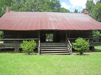 Lincoln Parish, Louisiana - Autrey Dogtrot House, built in 1849 by Absalom and Elizabeth Norris Autrey, formerly of Selma, Alabama is located west of Dubach. The oldest restored dogtrot house in Lincoln Parish, it was listed in 1980 on the National Register of Historic Places.