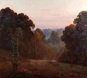 Weald - Autumn, Weald of Kent (1904), by Benjamin Haughton