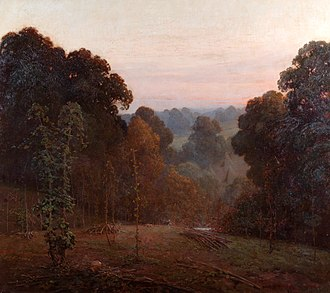 Weald - Autumn, Weald of Kent (1904), by Benjamin Haughton