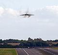 Avro Vulcan XH558 approaches Birmingham Airport (8039910411).jpg