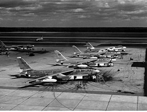 380th Air Expeditionary Wing - B-47Es on the flightline