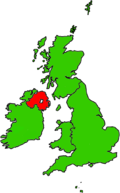 Location of Northern Ireland (red)