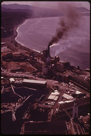 Crown Zellerbach - A Crown Zellerbach mill in 1973