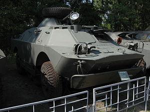 BRDM-2 armored scout car at the Muzeum Polskiej Techniki Wojskowej in Warsaw.JPG