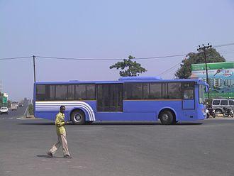 Rajkot Bus Rapid Transit System - Image: BRT Bus Rajkot