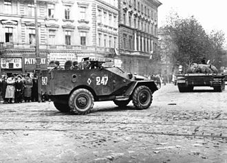 BTR-40 - A Soviet BTR-40 in Budapest during the Hungarian Uprising of 1956