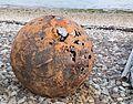Badentarbat Bay - corroded buoy on the beach.jpg