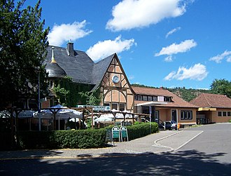Bad Münster am Stein station - Entrance building (street side)