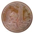 Baksida av medalj med bild av kvinna - Skoklosters slott - 99278.tif