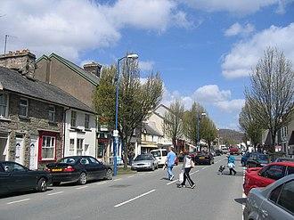 A494 road - The A494 through the centre of Bala, Gwynedd.