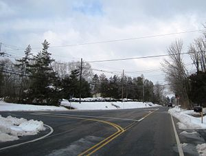 Baldwins Corner, New Jersey - Intersection of Pennington-Lawrenceville Road and Pennington Road