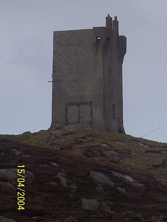 Malin Head - Tower at Banbas Crown that was used during war times.
