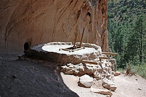 Bandelier National Monument - Reconstructed kiva at Alcove House