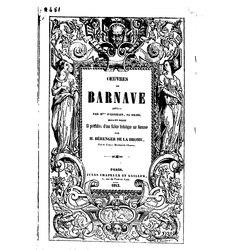 Antoine Barnave: Œuvres de Barnave