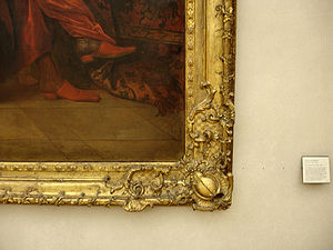 Picture frame - The elaborate decoration on this frame may well be applied plaster pieces stuck to the wood beneath