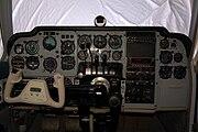 Baron 55 cockpit