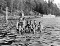 Bathers in Lake Washington at Burrows Landing, Bellevue, Washington (4724288093).jpg
