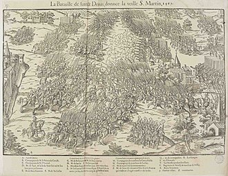 Saint-Denis, Seine-Saint-Denis - Battle of Saint-Denis (1567).