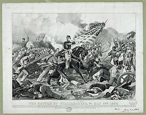 Battle of Williamsburg - McClellan arriving at the battle, as depicted by Currier and Ives
