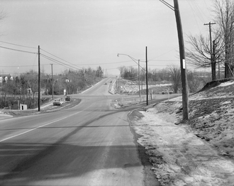 Finch Avenue - The intersection of Bayview and Finch was opened October 1960, eliminating a jog in both roads over Newtonbrook Creek