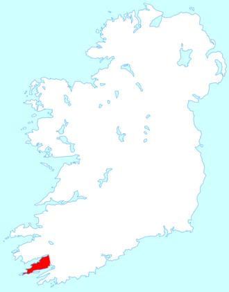 Beara Peninsula - Location map of the Beara Peninsula