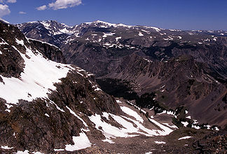 Berge in den Beartooth Mountains