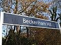 Beckenham Hill stn signage.JPG