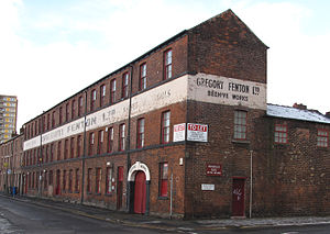 Beehive Works - Seen from the junction of Milton Street and Headford Street.