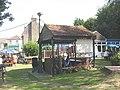 Beer garden of the Leather Bottle - geograph.org.uk - 1454908.jpg