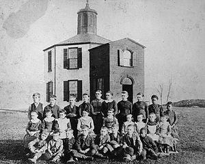 East Caln Township, Chester County, Pennsylvania - Undated photo of Belle School in East Caln Township